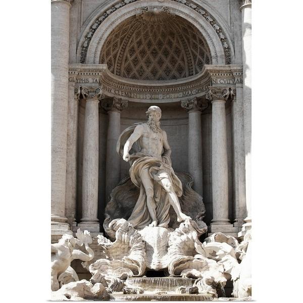 """Trevi Fountain in Rome"" Poster Print"