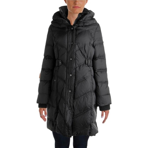 DKNY Womens Parka Down Quilted