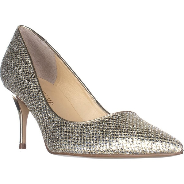 Ivanka Trump Tirra3 Classic Pointed-Toe Pumps, Gold
