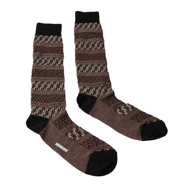 Missoni GM00CMU5243 0001 Gray/Black Knee Length Socks