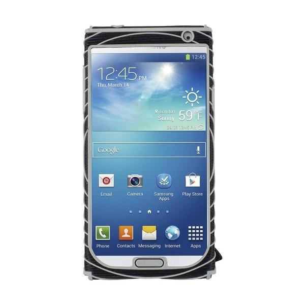 Nathan SonicGrip Hand Strap for Samsung Galaxy 4 - Black/Silver