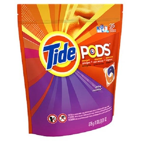 Tide 50963 Pod Laundry Detergent Pac, Spring Meadow Scent, 35-Count
