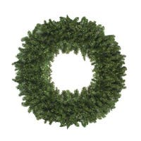 8' High Sierra Pine Commercial Artificial Christmas Wreath - Unlit - green