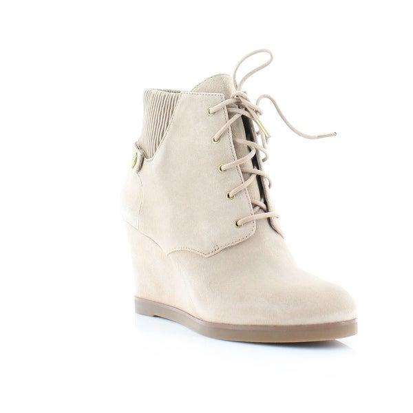 Michael Kors Carrigan Wedge Bootie Women's Boots Dk Khaki - 8.5
