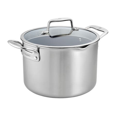 ZWILLING Clad CFX 8-qt Stainless Steel Ceramic Nonstick Stock Pot - Stainless Steel