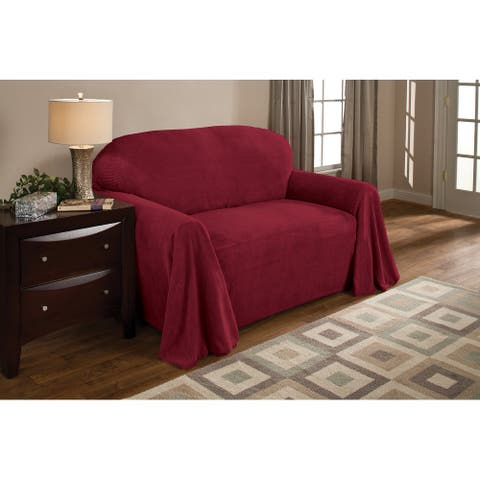 Innovative Textile Solutions Solid Textured Sofa Throw Slipcover
