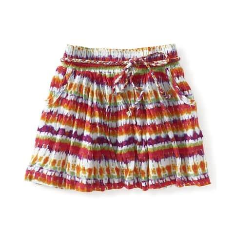 Aeropostale Womens Tye Dye Print Mini Skirt, multicoloured, X-Small