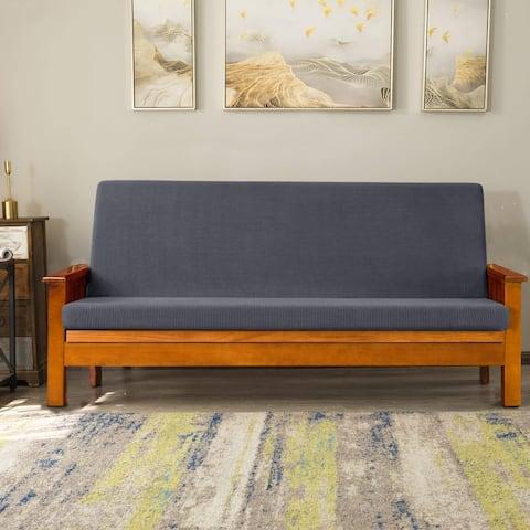 Subrtex Stretch Futon Slipcovers Washable Armless Furniture Cover