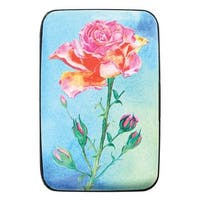 Women's Rose Print - Identity Protecting RFID Wallet - One size