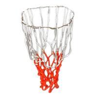 "Unique Bargains 2 Pcs 19"" Long Braided Nylon Training Match Basketball Nets White Red"
