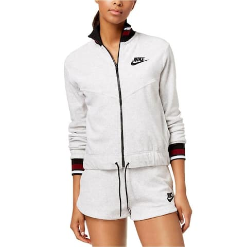 Nike Women Sportswear French Terry Full Zip Jacket - Birch Heather - X-Small