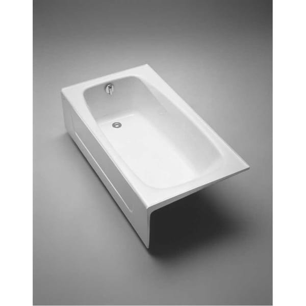 Toto Fby1525rp 5 Foot Cast Iron Three Wall Alcove Soaking Tub With Right Hand Drain