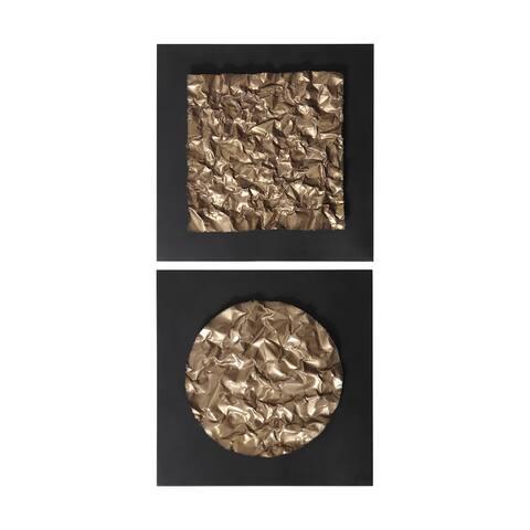Uttermost Boaz Gold Wall Decors (Set of 2)