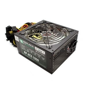 Replace Power RP-ATX-1000W-GN 1000W ATX Power Supply Green LED