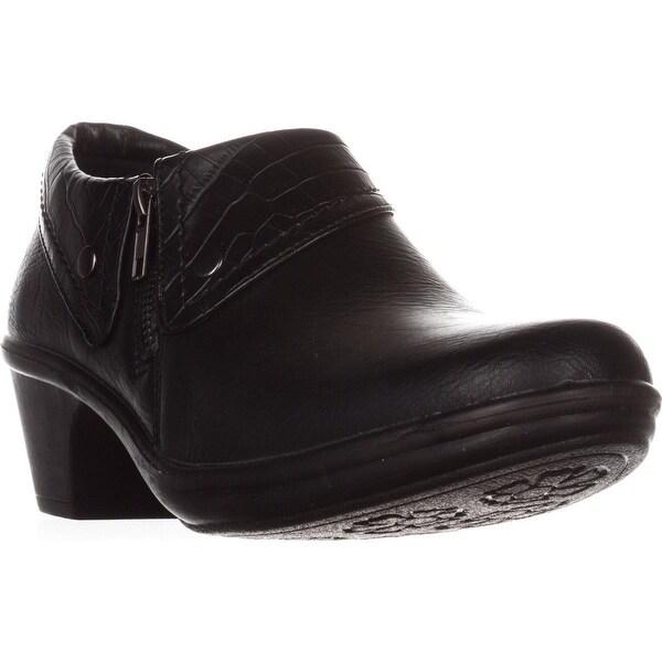 Easy Street Darcy Comfort Ankle Boots, Black/Black Croc