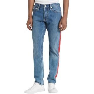 Link to Calvin Klein Mens Side Stripe Slim Fit Jeans, Blue, 32W x 32L - 32W x 32L Similar Items in Pants