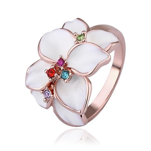 Rose Gold Plated Ivory Petals Ring