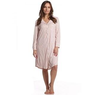 Body Touch Women's Super Soft Hearts Long Sleeve PJ Sleepshirt