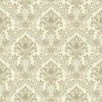 York Wallcoverings WP2416 Waverly Small Prints Bedazzled Wallpaper - Cream/Light Earth Brown/Pale Grey - N/A