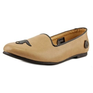 Loly in the Sky Geraldine Women  Round Toe Synthetic Tan Flats