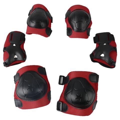 6Pcs Skateboarding Skating Wrist Guard Elbow Pads Knee Pads Safety Gear Set for Kids