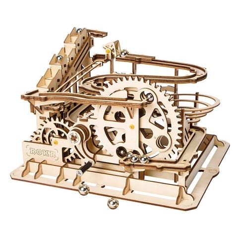 "DIY 3D Wooden Mechanical Gears Kit - Marble Parkour - 10x9.25x10"""