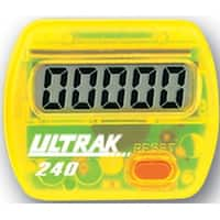 Ultrak 240 - Electronic Step Counter Pedometer - Yellow