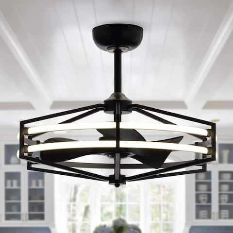 29.5-in LED Fandelier Ceiling Fan with Remote Controller