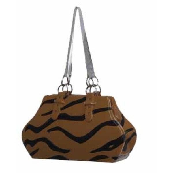 """3"""" Fashion Avenue Tiger Print Handbag Purse Christmas Ornament"""