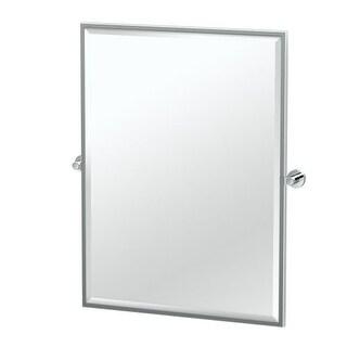 "Gatco 46.9FS Glam 24-1/2"" x 32-1/2"" Beveled Framed Rectangular Tilting Wall Mirror"