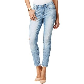 Earl Jean Womens Classic Jeans Destroyed Skinny Ankle