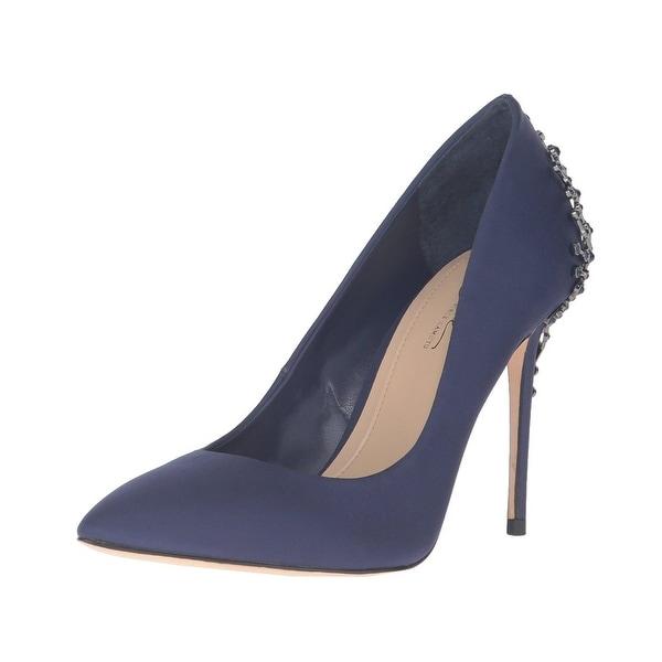 Imagine Vince Camuto Olive Embellished Satin Pumps Heels Shoes - 8 b(m)