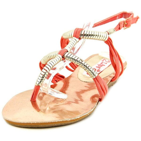2 Lips Too Too Coiled Open Toe Synthetic Wedge Sandal
