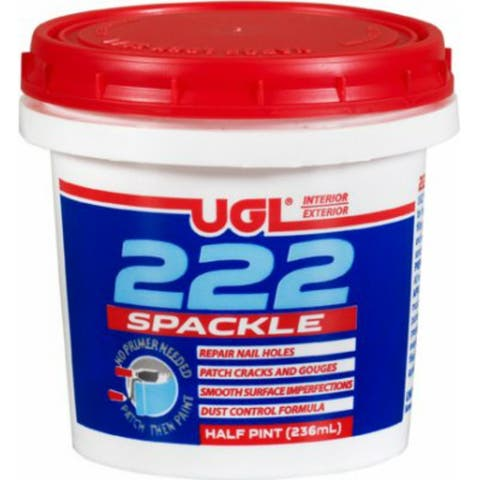 UGL 31706 All Purpose 222 Spackling Paste, 1/2 Pt