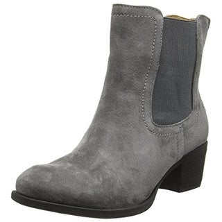 Hush Puppies Womens Landa Nellie Ankle Boots Suede Stacked Heel