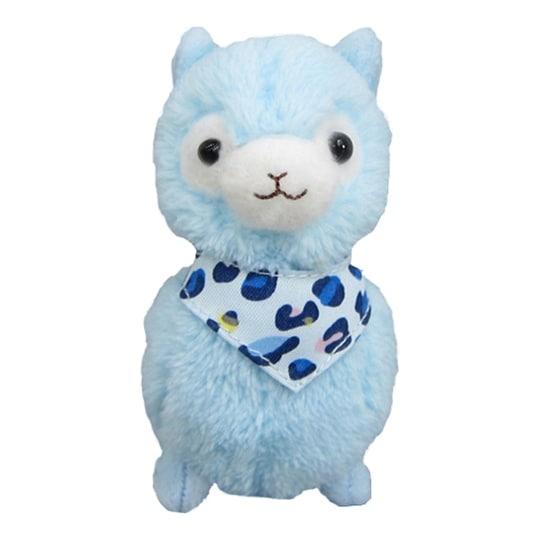 """Llama Bandana Alpaca 12"""" Plush: Blue - multi"""