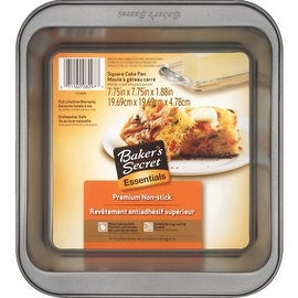 "Bakers Secret Bs 8"" Sq Cake Pan"