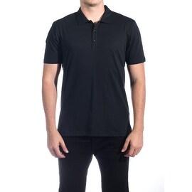 Versace Collection Men's Mesh Polo Shirt Navy