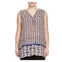 Nic + Zoe Womens Tunic Dress Chiffon Pattern
