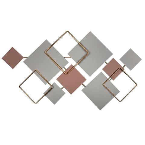 Stratton Home Decor Modern Layered Metal Centerpiece Wall Decor
