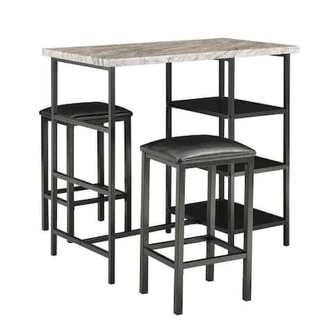 Ainsley Counter Height Table Set with Marble Top by iNSPIRE Q Modern