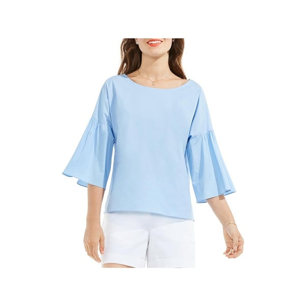Shop Vince Camuto Womens Blouse Flare Sleeves Ruffle