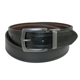 Dickies Men's 35mm Reversible Belt with Contrast Stitch - brown to black