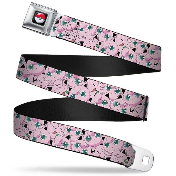 Pok Ball Full Color Black Jigglypuff Stacked Webbing Seatbelt Belt Fashion Seatbelt Belt