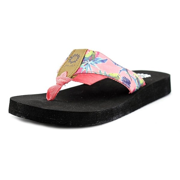 Yellow Box Macaw Open Toe Faux Leather Flip Flop Sandal