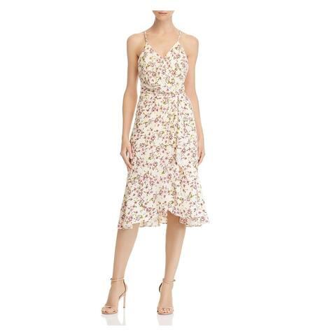 WAYF Ivory Spaghetti Strap Below The Knee Dress M