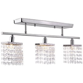 3 Light, Crystal Flush Mount Modern Ceiling Light, Fixture