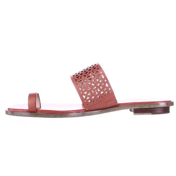 b8ec75fa869c MICHAEL Michael Kors Womens Sonya Leather Split Toe Casual Slide Sandals