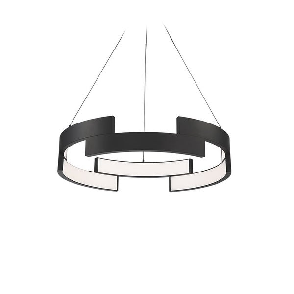 shop wac lighting pd 95838 trap 6 light 38 wide integrated led ring wac lighting pd 95838 trap 6 light 38 wide integrated led ring chandelier
