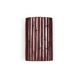 """A19 N20301 Bamboo 10"""" Ceramic Wall Sconce from the Nature Collection - n/a"""